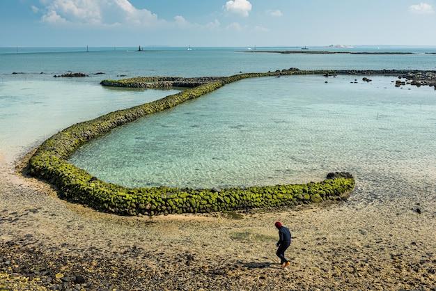 Bucht in den fischerinseln oder in penghu, taiwan