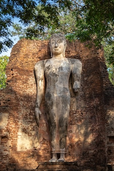 Buddha-bild in wat phra si lriyabot im historischen park kamphaeng phet, provinz kamphaeng phet