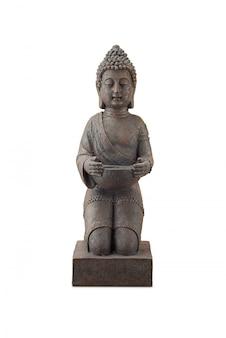 Buddha-statue in voller länge lokalisiert auf weiß