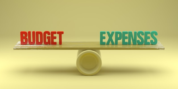 Budget- oder ausgabenkonzept. 3d-rendering