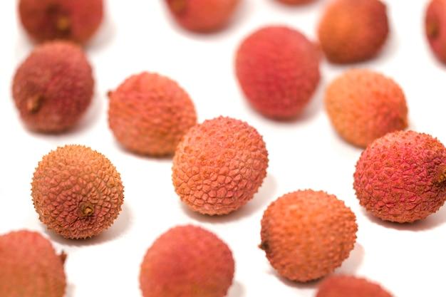 Bündel lychee-früchte