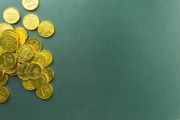 Bündel schokoladenmünzen