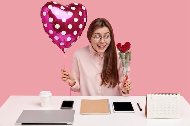 Büro romantik konzept