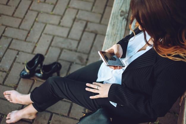 Büroangestellte geschäftsfrau arbeiten