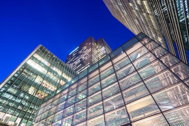 Bürogebäude in canary wharf, london