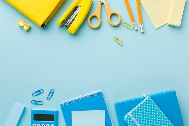 Büromaterial mit kopierraum