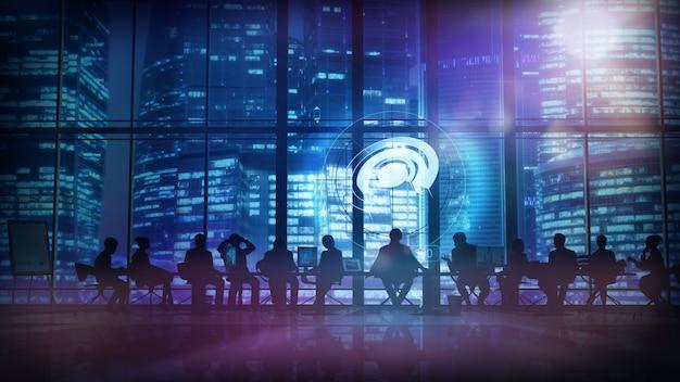 Büropersonal und deren leiter. abbildung 3d