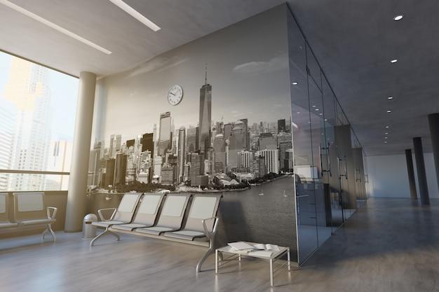 Büroraum-wand