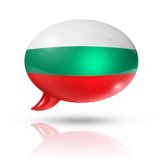 Bulgarische flagge sprechblase