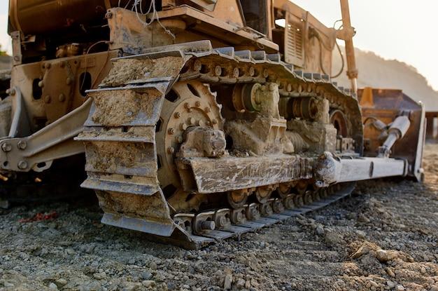 Bulldozer arbeitsmaschine bagger baustelle