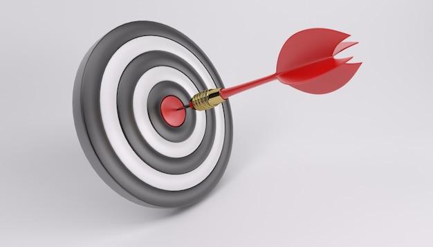 Bullseye mit einem dart