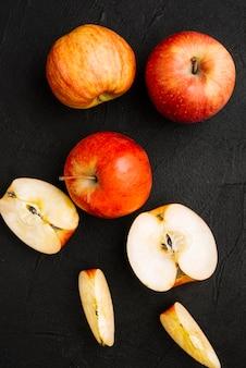 Bündel frische Äpfel