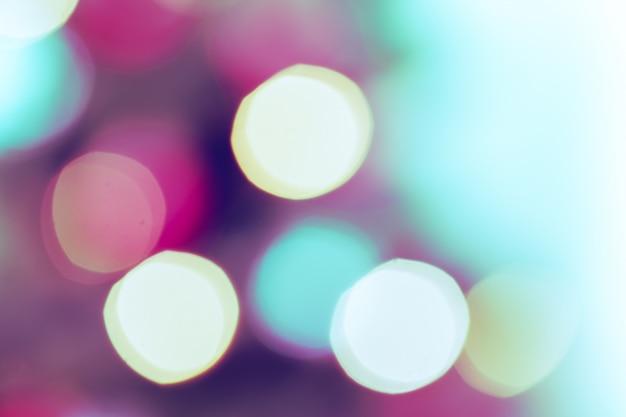 Bunt mit defokussierten lichtern