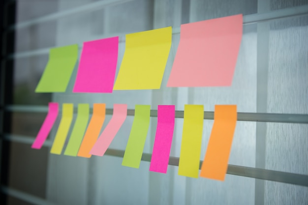 Bunt von post it