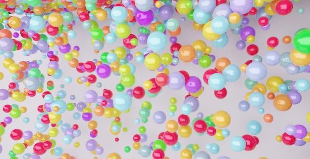 Bunte abstrakte geometrische formen der kugel 3d oder ballonhintergrund