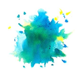 Bunte aquarell hintergrundkunst handfarbe