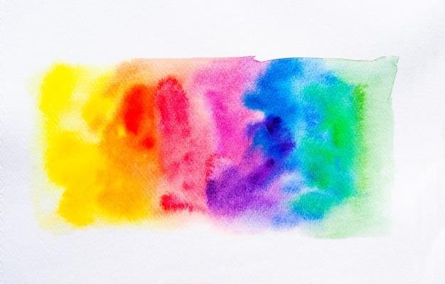 Bunte aquarellpinsel hintergrund. abstrakter aquarellfleck mit farbfleck für banner, vorlage, element für die dekoration. nahaufnahme.