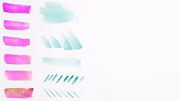 Bunte aquarellpinselanschläge
