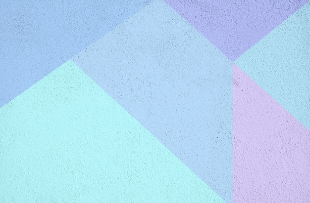 Bunte beton gemalte hintergrundbeschaffenheit. blau lila