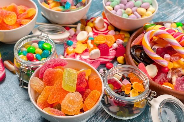 Bunte bonbons gemischt