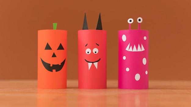 Bunte dekorationen für halloween-pack