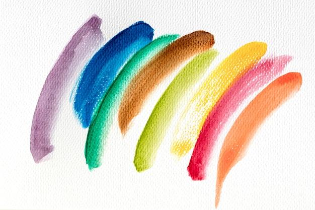 Bunte farbflecken der abstrakten kunst auf leinwand