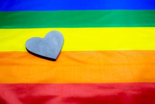 Bunte flagge der lgbt-community