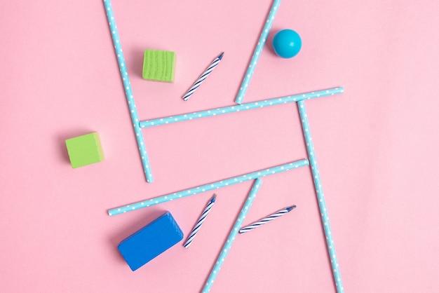 Bunte geburtstagsparty-designs helle ideen für die planung von feiern neue auffällige dekorationen strohhalme bonbons kerzen feiern sie festivaldesign partybedarf