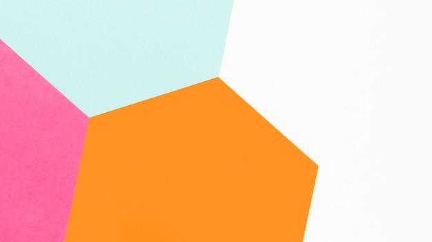 Bunte geometrische formen der draufsicht