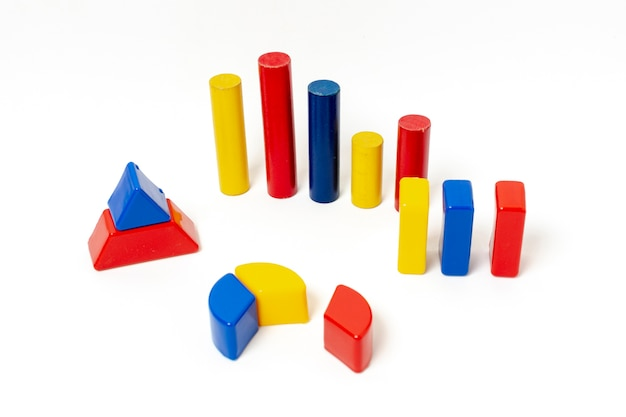 Bunte geometrische formen für statistiken