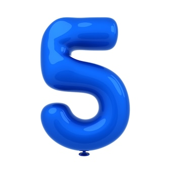 Bunte glatte wiedergabe der ballonzahl 3d