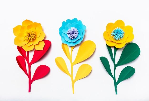Bunte handgemachte papierblumen