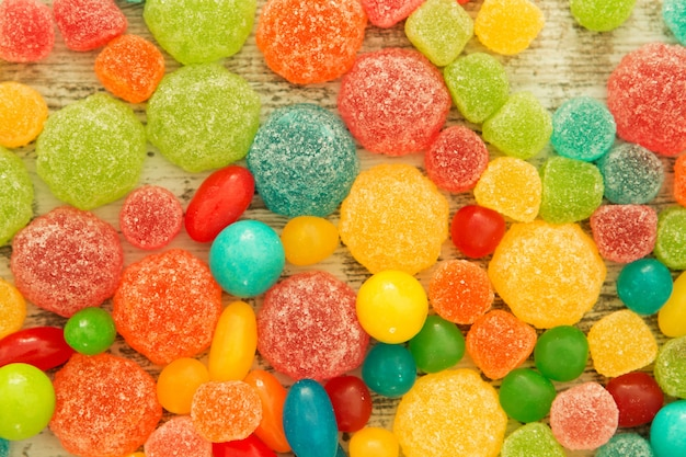 Bunte jelly beans zur tapete
