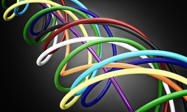 Bunte kabel