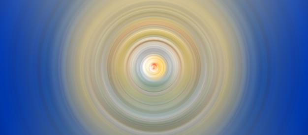 Bunte konzentrische kreise hellgelb und himmelblau kräuseln grafische digitale grafik