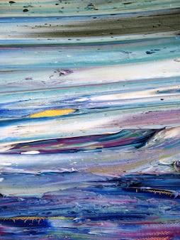 Bunte kunst des pinselstrichs auf segeltuchzusammenfassungshintergrund und gemasert.