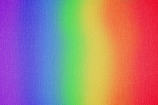 Bunte leinwandstruktur des regenbogens