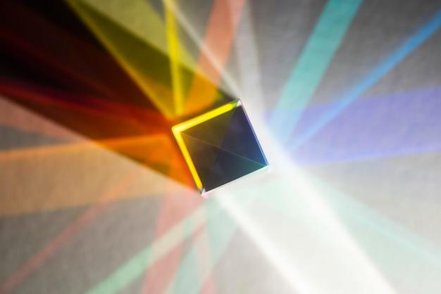 Bunte lichtprismenreflexion
