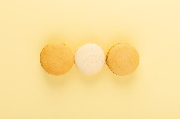 Bunte macarons der draufsicht