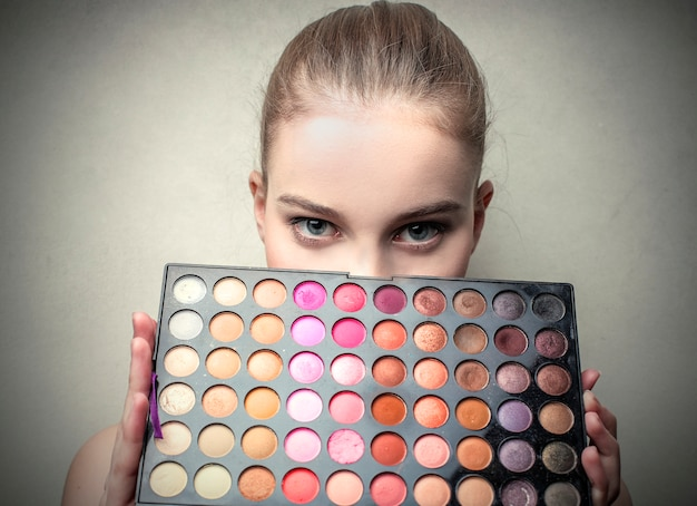 Bunte make-up-palette
