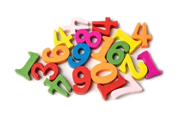 Bunte mathe-zahlen für kinder