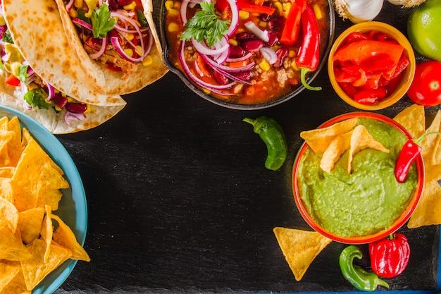Bunte mexikanische menü