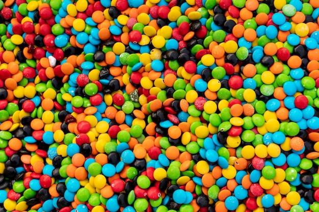 Bunte oberfläche der süßen farbsüßigkeit