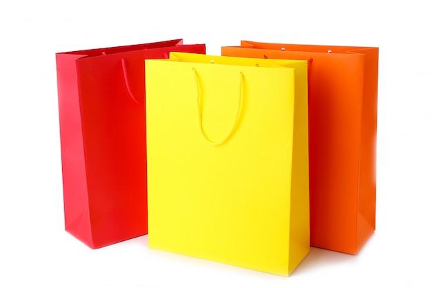 Bunte papiereinkaufstüten