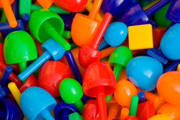 Bunte plastikoberteile