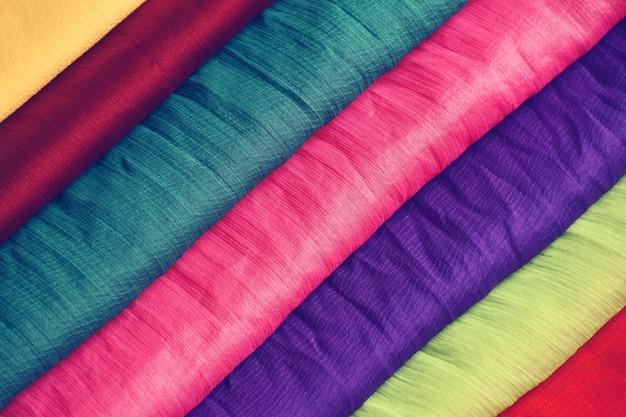 Bunte stoffe für die textilindustrie