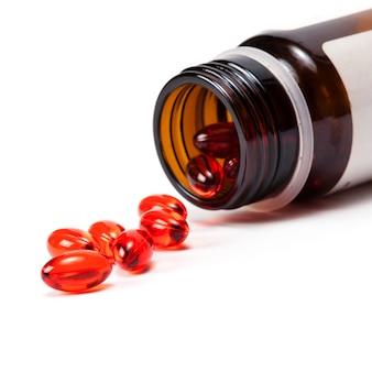 Bunte tabletten mit kapseln