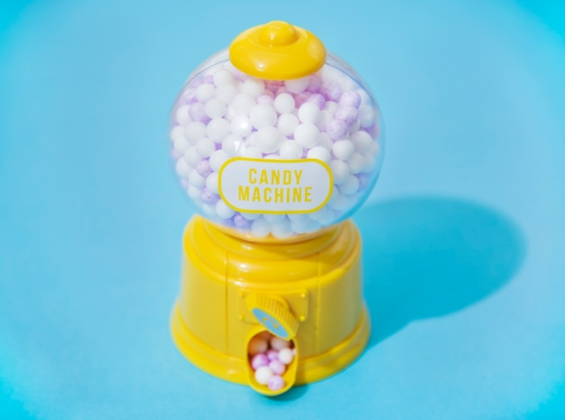 Bunte und helle süßigkeitsmaschine