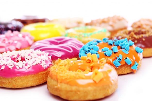 Bunte und leckere donuts