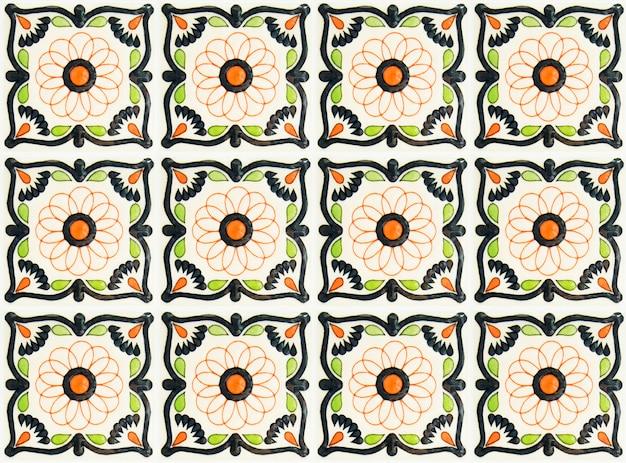 Bunte weinlesekeramikfliesen-wanddekoration türkischer keramikfliesenwandhintergrund